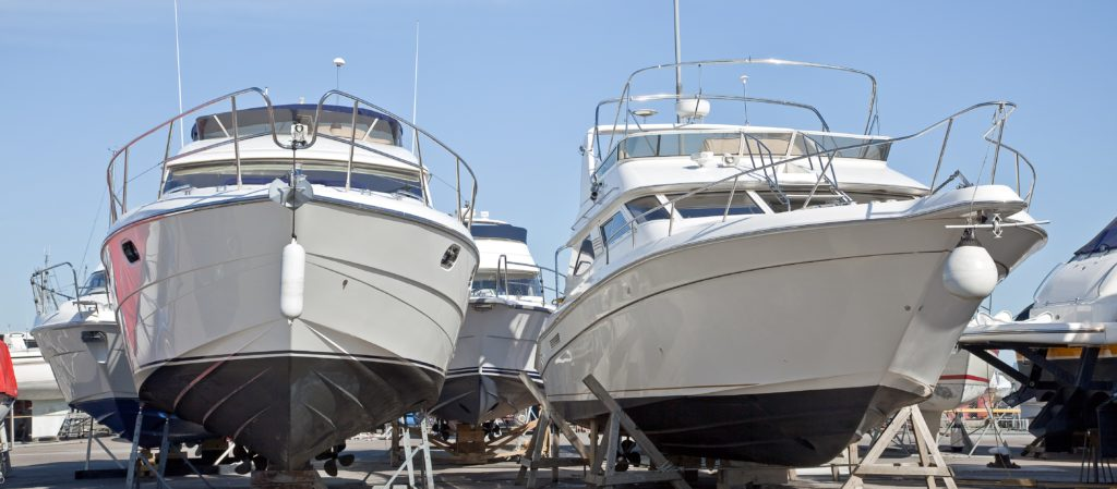 boats at a boat storage